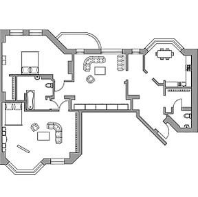 Перепланировка четырехкомнатной квартиры